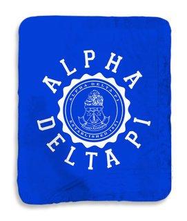 Alpha Delta Pi Seal Sherpa Lap Blanket