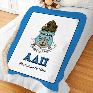 Alpha Delta Pi Sherpa Lap Blanket