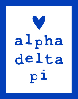 Alpha Delta Pi Simple Heart Sticker