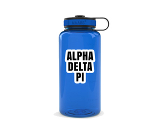 Alpha Delta Pi Simple Wide Mouth Water Bottle