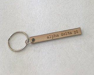 Alpha Delta Pi Skinny Keychain