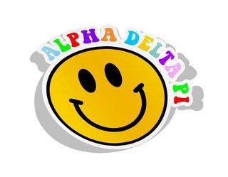 Alpha Delta Pi Smiley Face Decal Sticker