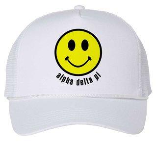 Alpha Delta Pi Smiley Face Trucker Hat