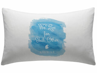 Alpha Delta Pi Motto Watercolor Pillowcase