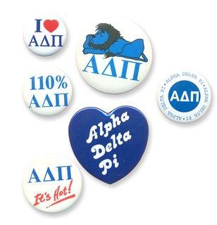 Alpha Delta Pi Sorority Buttons 6-Pack