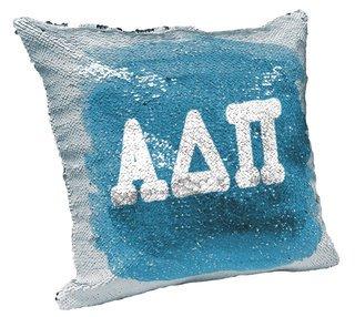 Alpha Delta Pi Sorority Flip Sequin Throw Pillow Cover
