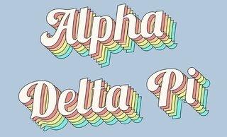 Alpha Delta Pi Sorority Retro Flag