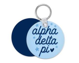 Alpha Delta Pi Star Key Chain