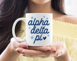 Alpha Delta Pi Star Mug