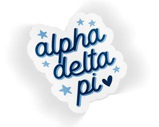 Alpha Delta Pi Star Sticker