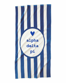 Alpha Delta Pi Striped Beach Towel
