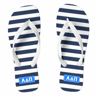 Alpha Delta Pi Striped Flip Flops