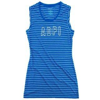 Alpha Delta Pi Striped Tee Dress