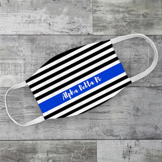 Alpha Delta Pi Stripes Face Mask