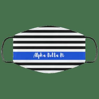 Alpha Delta Pi Stripes Face Mask