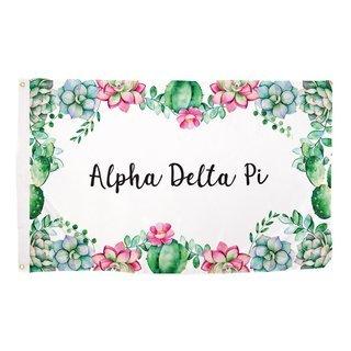 Alpha Delta Pi Succulent Flag