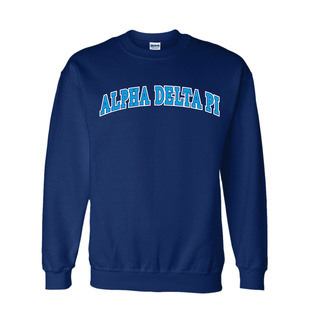 Alpha Delta Pi Super Saver Letterman Crewneck