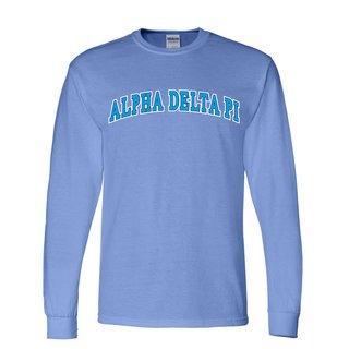Alpha Delta Pi Super Saver Letterman Longsleeve T-Shirt