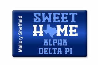 Alpha Delta Pi Sweet Home Ceramic Magnet