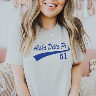 Alpha Delta Pi Tail T-Shirts