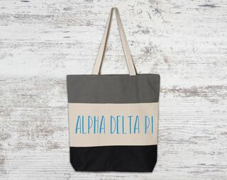 Alpha Delta Pi Tri Color Tote Bag