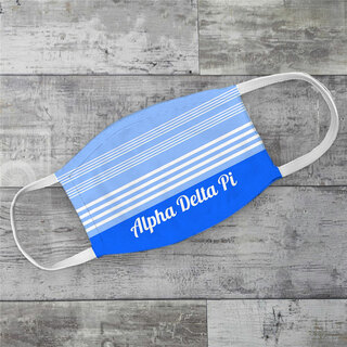 Alpha Delta Pi Two Tone Stripes Face Mask