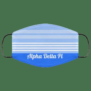 Alpha Delta Pi Two Tone Stripes Face Mask
