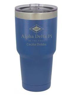 Alpha Delta Pi Vacuum Insulated Mascot Tumbler