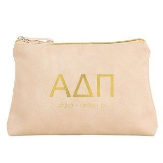 Alpha Delta Pi Vegan Leather Cosmetic Bags