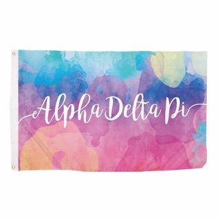 Alpha Delta Pi Watercolor Flag