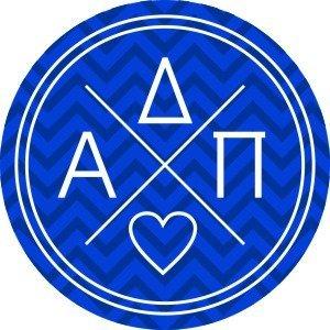 Alpha Delta Pi Well Balanced Round Decals