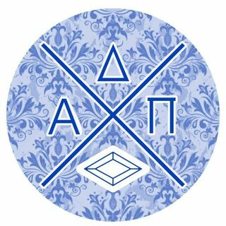 Alpha Delta Pi Well Balanced Round Decals