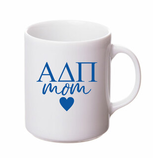 Alpha Delta Pi White Personalized Coffee Mug