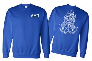 Alpha Delta Pi World Famous Crest - Shield Crewneck Sweatshirt- $25!