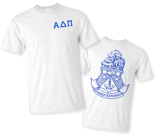 Alpha Delta Pi World Famous Greek Crest T-Shirts - - MADE FAST!