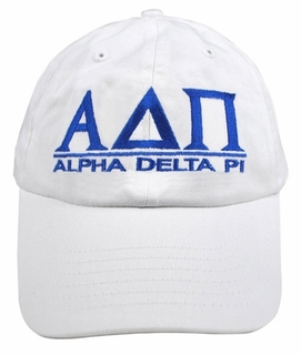 Alpha Delta Pi World Famous Line Hat - MADE FAST!