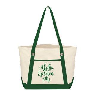 Alpha Epsilon Phi Sailing Tote Bag