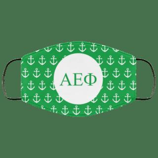 Alpha Epsilon Phi Anchors Face Mask
