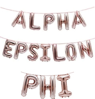 Alpha Epsilon Phi Banner Balloon Set
