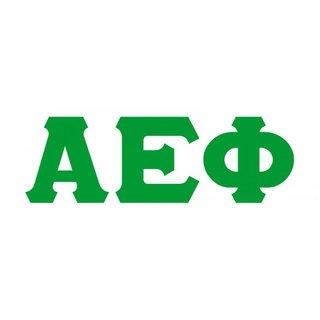 Alpha Epsilon Phi Big Greek Letter Window Sticker Decal