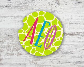 Alpha Epsilon Phi Brights Sandstone Car Cup Holder Coaster