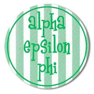"Alpha Epsilon Phi Bumper Stickers 4"" Round"