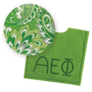 Alpha Epsilon Phi Button Mirror