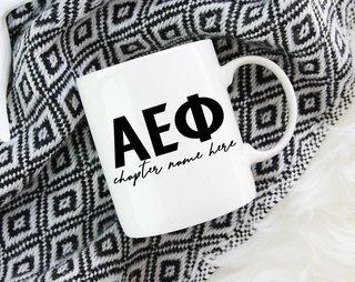 Alpha Epsilon Phi Chapter Mug