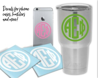 Alpha Epsilon Phi Circle Decal