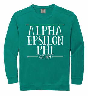 Alpha Epsilon Phi Comfort Colors Established Crewneck Sweatshirt