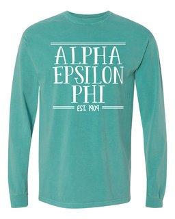 Alpha Epsilon Phi Comfort Colors Established Long Sleeve T-Shirt
