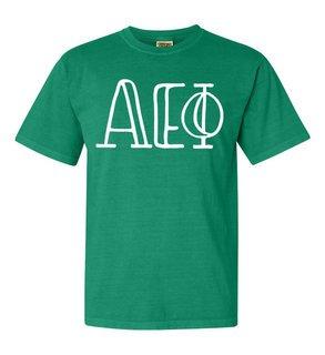 Alpha Epsilon Phi Comfort Colors Heavyweight Design T-Shirt