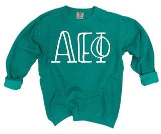 Alpha Epsilon Phi Comfort Colors Greek Crewneck Sweatshirt