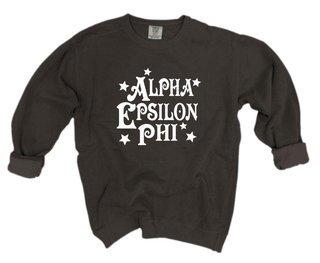 Alpha Epsilon Phi Comfort Colors Old School Custom Crew